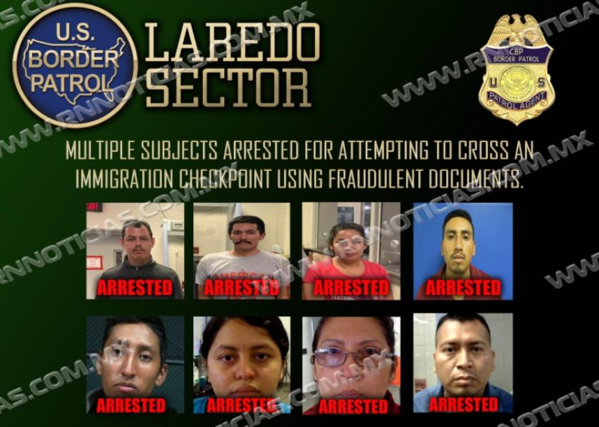 La Patrulla Fronteriza de Laredo arresta a individuos indocumentados con documentos falsos