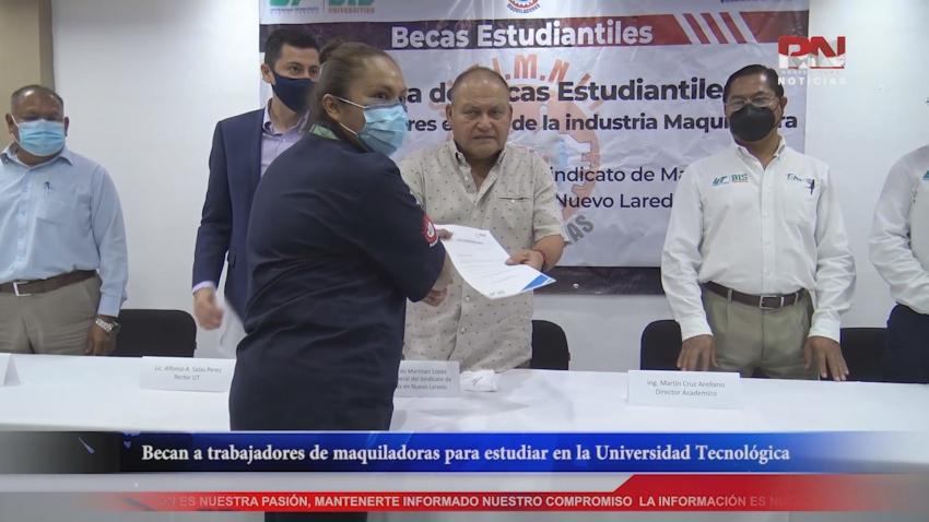 VIDEO Becan a trabajadores de maquiladoras para estudiar en la Universidad Tecnológica