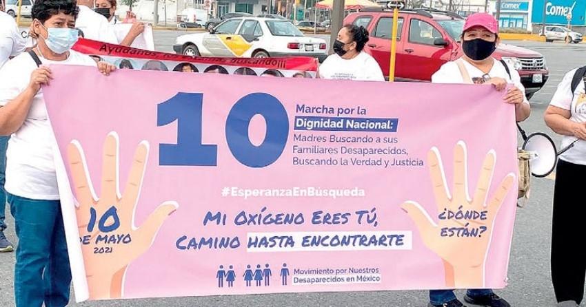 Marchan por hijos e hijas desaparecidos