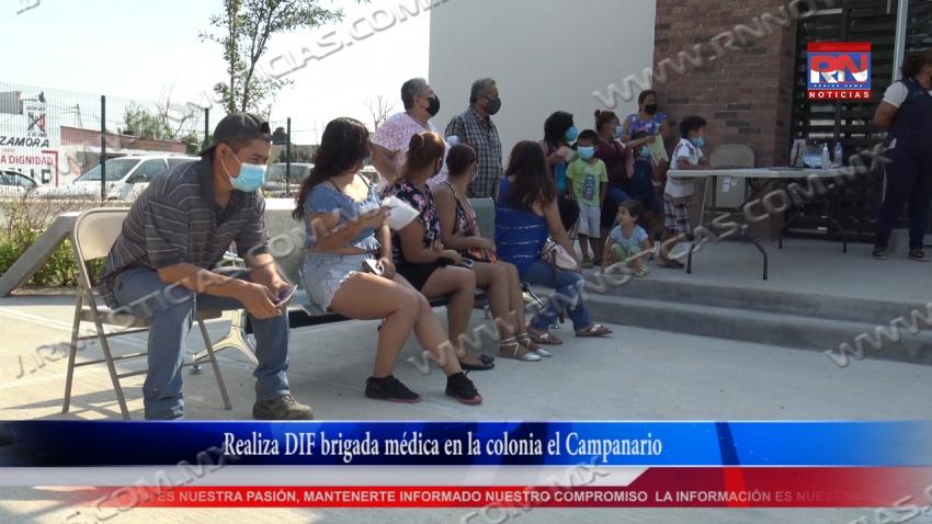 VIDEO Realiza DIF brigada médica en la colonia el Campanario