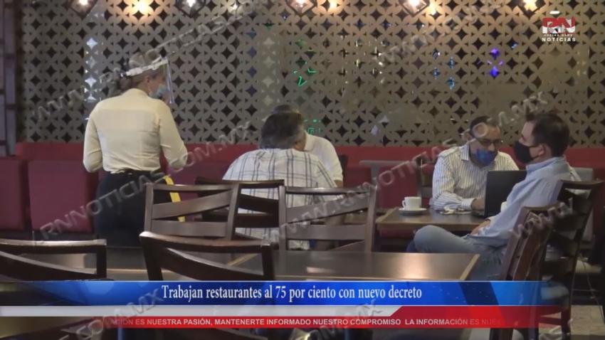 VIDEO Trabajan restaurantes al 75 por ciento con nuevo decreto